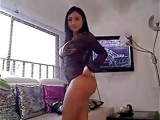 Desi Middle eastern curvy beauty at Home video