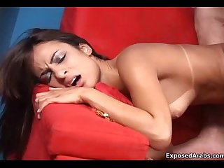 Tiny Arabian girl gets her tight pussy